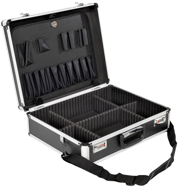 Vestil CASE-1814-CL-BK Aluminum Tool Case