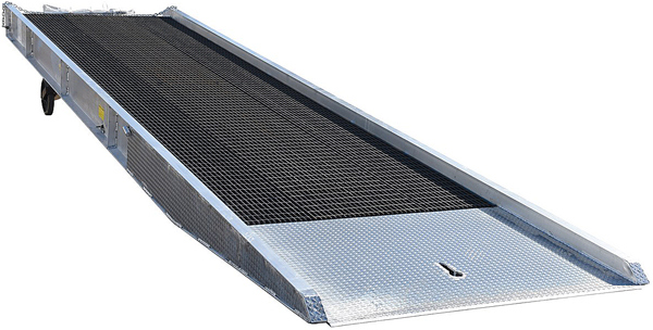 Vestil Aluminum Yard Ramp with Steel Grating