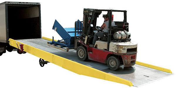 Vestil AY Yard Ramp with Optional Yellow Safety Curbs