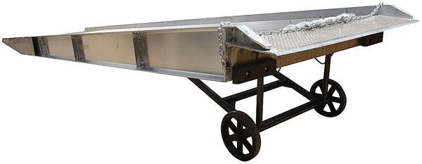 Vestil SY Aluminum Yard Ramp with standard Mold-on Rubber Wheels
