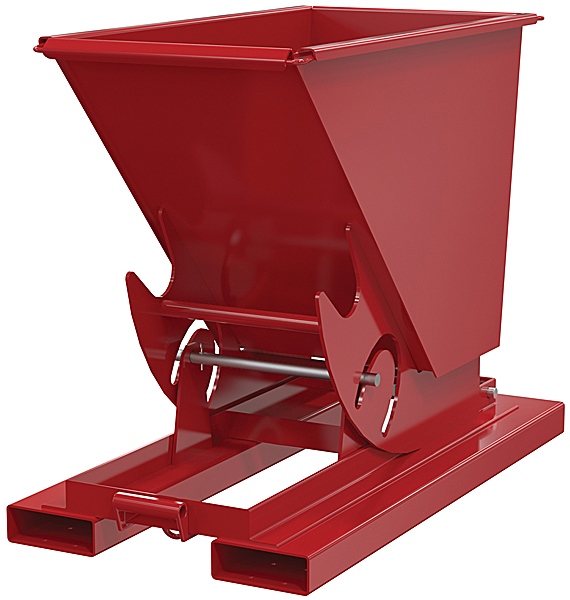 D-33-MD-NB Red Self-Dumping Hopper with Manual Release