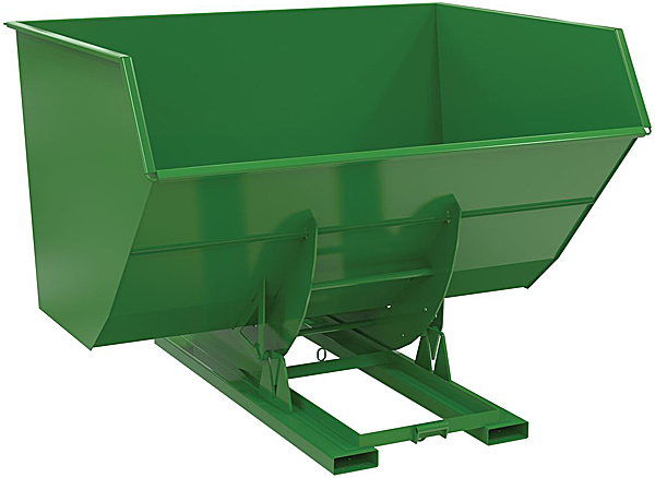 Vestil D-500-HD-NB Green Self-Dumping Hopper with Manual Release