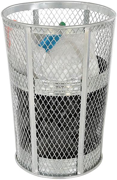 Vestil TR-MXR-48-HDG Galvanized Steel Trash Can