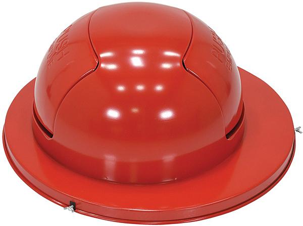 Vestil TRASH-TOP-DD-RD Drum Top with Dual Door