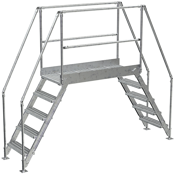 Vestil COL-AL-5-46-44 Aluminum Crossover Ladder