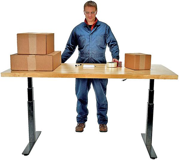 Vestil EAH-3672-MT Electric Adjustable Height Work Bench
