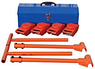 Vestil VHMS-2-KIT Steel Machine Roller Kit