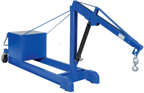 Vestil CBFC-2000-DC Counterbalance Floor Crane with Powered Lift