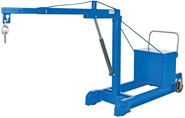 Vestil CBFC-500-DC Counterbalance Floor Crane with Powered Lift