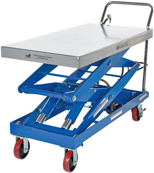 Vestil AIR-1500-D Pneumatic Scissor Lift Cart