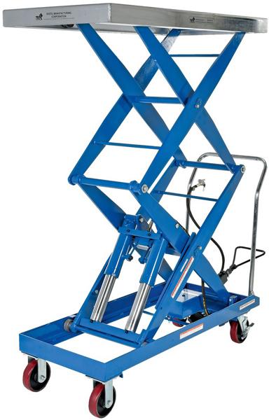 Vestil AIR-1500-D Pneumatic Double Scissor Lift Cart