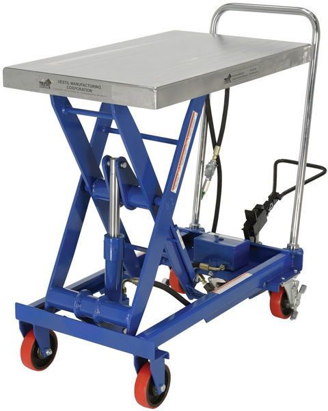 Vestil AIR-1000 Pneumatic Scissor Lift Cart