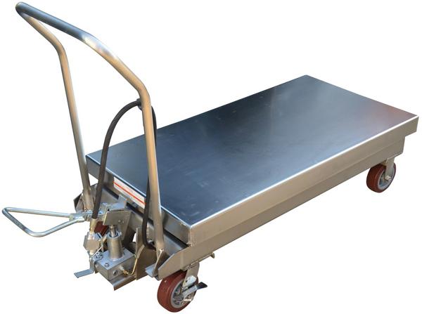Vestil AIR-1750-PSS Pneumatic Scissor Lift Cart