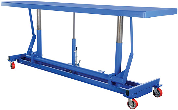 Vestil LDLT-30120 Long Deck Manual Lift Cart