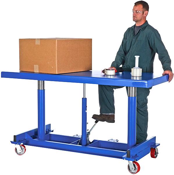 Vestil LDLT-3072-4 Long Deck Manual Lift Cart