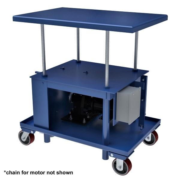 Vestil MT-2436-LP-AC Low Profile Mechanical Post Table