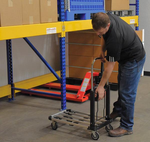 Vestil FAPT-1628 Fold-Up Aluminum Platform Cart