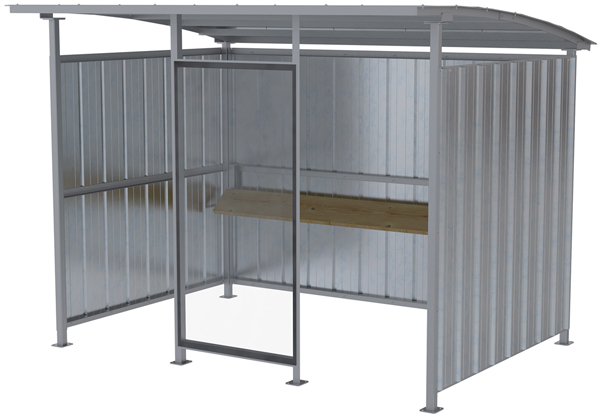Vestil MDS-96-SM-HDG Galvanized Outdoor Smoking Shelter