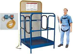 Vestil WP-4848-DD-FF Full Featured Dual Door Forklift Work Platform