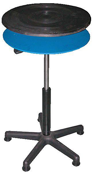Vestil TT-18-CDPED Industrial Turntable with Shelf