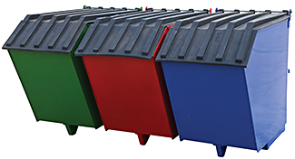 Vestil ENVIR-BIN Triple-Bin Recycling Hopper