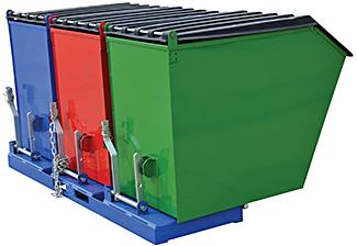 vestil envir bin triple bin recycling hopper for sale. Black Bedroom Furniture Sets. Home Design Ideas