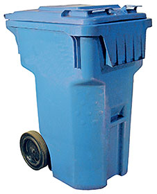 Vestil TH-95-BLU Trash Can
