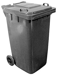Vestil TH-64-GY Trash Can