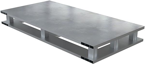 Vestil AP-ST-4024-4W Solid Top Aluminum Half Pallet