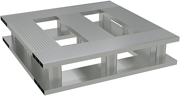 Vestil AP-2424-4W Aluminum Half Pallet
