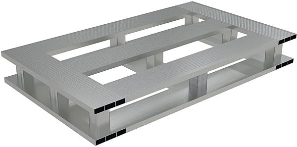 Vestil AP-4824-4W Aluminum Half Pallet