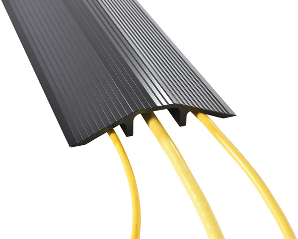 Vestil LHCR Aluminum Cable Protector with Black Powder Coat Finish
