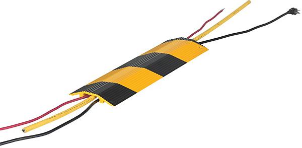 Vestil HCR-24-YB Yellow & Black Aluminum Hose & Cable Bridge