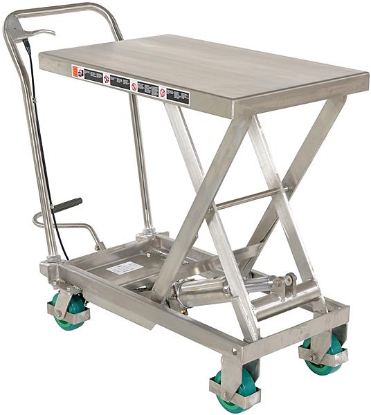 Vestil CART-500-SS3 Stainless Steel Lift Cart
