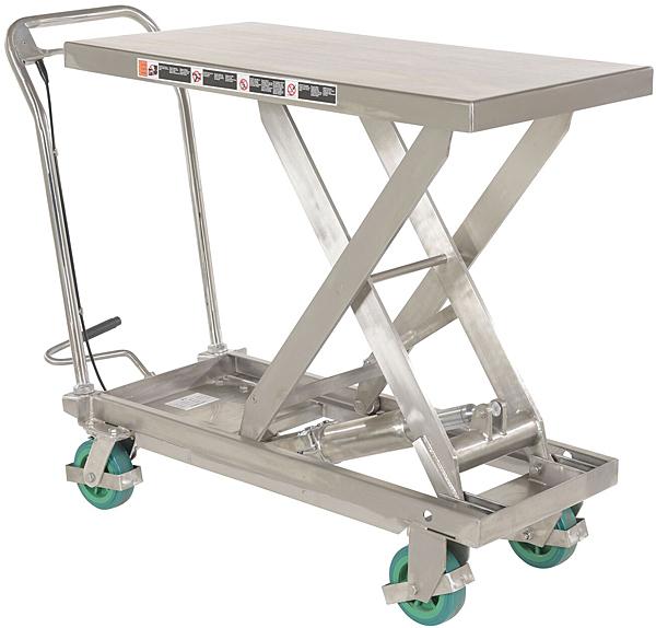 Vestil CART-1000-SS2 Stainless Steel Lift Cart