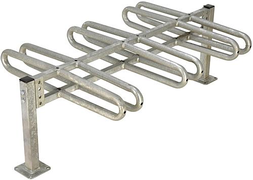 BR-M3D-GAL Galvanized Bicycle Rack