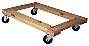 Vestil HDOF-2436-9 Open Deck Hardwood Dollies