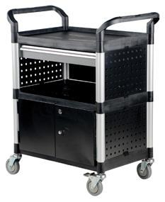 Vestil CSC-DD Food & Service Carts - With Side Panels