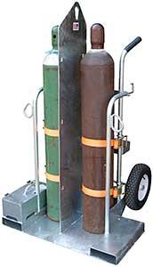 Vestil CYL-2-G Galvanized Welding Cylinder Cart