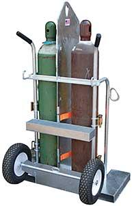 Vestil CYL-2-FF-G Galvanized Welding Cylinder Cart