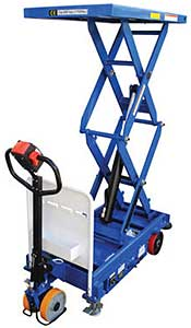 Vestil CART-1500D-DC-CTD Powered Drive & Lift Hydraulic Scissor Cart