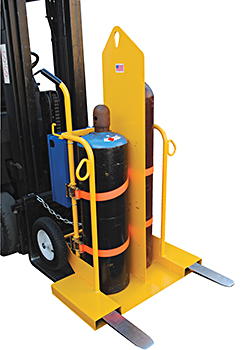 Vestil CYL-2-FP On Forklift