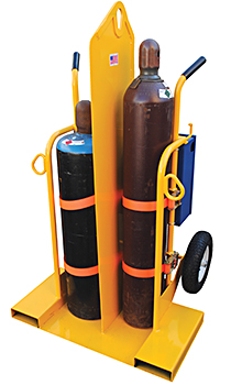 Vestil CYL-2-FP Welding Cylinder Cart With Fire Protection