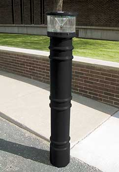 BPC-DM-LUV-B Decorative Bollard Covers - Metro Style With UV Light