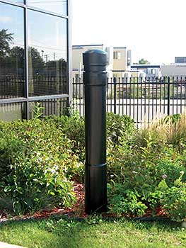 decorative bollard covers - arch style - bpc-da-r, bpc-da-fg, bpc
