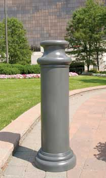 decorative bollard covers - pawn style - bpc-dp-r, bpc-dp-fg, bpc