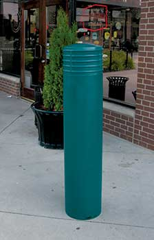 decorative bollard covers - cinco - bpc-dc-r, bpc-dc-fg, bpc-dc-b