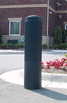 decorative bollard covers - ribbed type - bpc-dr-r, bpc-dr-fg, bpc