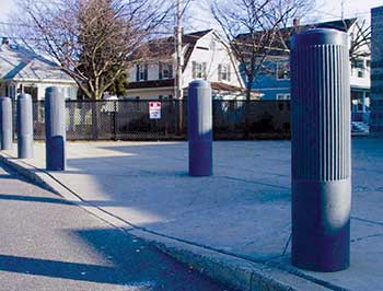 BPC-DR-GY Decorative Bollard Covers - Ribbed Type