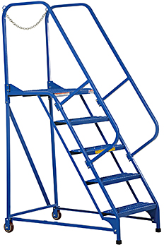 Vestil LAD-MM Grip-Strut Rolling Maintenance Ladder